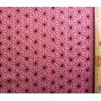 ダブルガーゼ 生地 布 麻の葉 ( ピンク ) ( 綿100% ) 生地幅−約105cm( 商品の特性上、柄が多少歪んでいる場合があります。 きめつのやいば  )