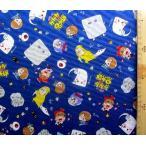 キャラクター 生地 布  ゲゲゲの鬼太郎(紺)柄番号2( 2019 - 2020 ) オックス(綿100%) 生地幅−約108cm  yuw-19gg-004-1-kk-5830