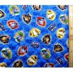パウパトロール ( 青紺 ) 柄番号3( 材料セット レシピ付き )レッスンバック ( またはピアニカケース )とシューズケース用  パウパト Z-6075-1A-kq-4488