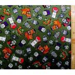 キャラクター 生地 巾着袋 材料セット レシピ付き  怪盗グルー ( ミニオンズ )  ( モンスターズ グリーン )  柄番号 11 手芸 生地 綿 ( プリント )