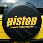ジムニースペアタイヤカバー 「PISTON」ロゴ PISTONオリジナル