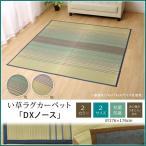 い草 ラグ カーペット 約2畳 正方形 DXノース 約176×176cm 裏:不織布 おしゃれ 和風 モダン 夏用ラグ いぐさ ござ カジュアル