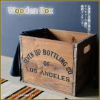 ウッドボックス アンティーク風 ボックス 木箱 収納 木製 ボックス BOX 箱 小物入れ 男前 西海岸風 レトロボックス 塩系 L