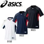 ベースボールTシャツ 【asics】アシックス ベースボールシャツ 野球ウエア (BAD009)14SS