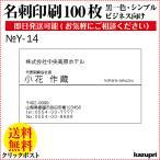 名刺 作成 印刷 100枚 送料無料 ビジネス名刺  格安 早い 安い 校正あり モノクロ Y-14