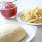 ピザ生地、トマトソース、チーズが入った手作りピザキット 誰でも簡単に、生地から伸ばして、楽しく、美味しいピザがつくれます。 Mサイズ(23cm)
