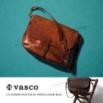 レザーポストマンショルダーバッグ 本革 VASCO 日本製 メンズ レディース