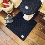 デニム トイレタリー(3点セット)マット+洗浄暖房ウォシュレットフタカバー+スリッパ(60×60)LaidBack おしゃれ 西海岸 ロンハーマン好き ふんわり