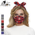 ハロウィン マスク チェック柄 花柄マスク 多機能 リボン付き 洗えるマスク コスプレ イベント コスチューム 小物 おもしろ雑貨 大人用 子ども用 クリスマス