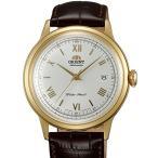 オリエントOrient ER24009W Men's Bambino White Dial Leather Strap Automatic Watch