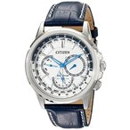 シチズンCitizen Men's BU2020-02A Calendrier Stainless Steel Watch With Blue Leather Band