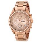フォッシルFossil Women's ES3352 Decker Chronograph Rose Gold-Tone Stainless Steel Watch