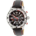 ノーティカNautica Men's NAD20502G Black Leather Quartz Watch