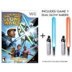 ショッピングWii ライトセーバーStar Wars The Clone Wars: Lightsaber Duels + Dual Glow Sabers for Nintendo Wii