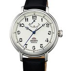 オリエントOrient Men's 'Monarch' Mechanical Hand Wind Stainless Steel and Leather Dress Watch, Color:Black (Model: FDD03