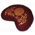 Yahoo!プラネットドリームヨガMeditation Cushion Crescent Zafu - Global Weave Teal