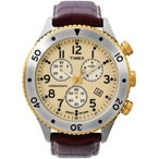 タイメックスTimex T2M705 T Series Mens Brown Strap Watch