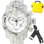 インヴィクタInvicta Venom Chronograph Silver Dial Stainless Steel Mens Watch 13879