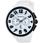 テンデンスTendence Gulliver Round Black & White Men's Quartz Watch 02046017