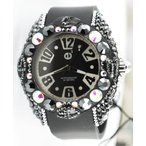 テンデンスTendence Women's Crystal Art Black Watch