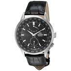 【当店1年保証】オリエントOrient Men's 'Adventurer' Japanese Automatic Stainless Steel and Leather Dress Watch, Color