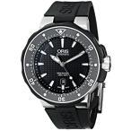オリスOris Men's 73376827154RS Divers Titanium Automatic Watch with Black Rubber Band