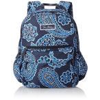 ヴェラブラッドリーVera Bradley Lighten Up Just Right Backpack Shoulder Handbag, Blue Bandana, One Size