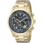 ゲスGUESS Men's U0602G1 Dressy Gold-Tone Stainless Steel Multi-Function Watch with Chronograph Dial and Deployment