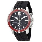 【当店1年保証】ティソTissot Men's T0664171705701 Seastar Analog Display Swiss Quartz Black Watch