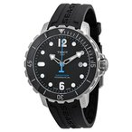 【当店1年保証】ティソTissot Men's T0664071705702 Seastar Analog Display Swiss Automatic Black Watch
