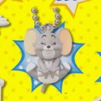 """トムとジェリーTakara Tomy Tom Jerry Companion Mascot Keychain Figure ~1.5"""" - Nibbles"""