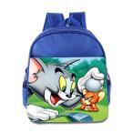 トムとジェリーKids Tom And Jerry School Backpack Cute Children School Bag RoyalBlue