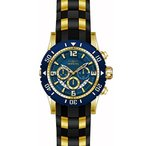 インヴィクタInvicta 23704 Men's Pro Diver Blue Dial Yellow Steel & Black Polyurethane Strap Chronograph Dive Watch