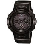 カシオCasio G-Shock Black Dial Black Resin Multi Quartz Men's Watch AWGM510BB-1A