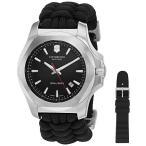 ビクトリノックスVictorinox Swiss Army Men& 039 s 241726.1 I.N.O.X. Watch with Black Dial and Black Paracord Strap