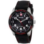 Yahoo!プラネットドリーム【当店1年保証】ウェンガーWenger Men's 70430 Nomad Compass Red LED Black Silicone Strap Watch