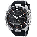 パルサーPulsar Men's PW6009 Stainless Steel Multifunction Watch