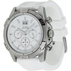 ゲスGUESS Men's Boldly Detailed Sport Chronograph Watch - Silver