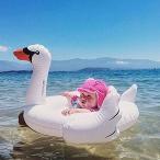 フロートInflatable Flamingos Swan Seat Boat Water Swim Ring Pool Swiming Float For Baby