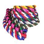 海外正規品Ravenox Colorful Twisted Cotton Rope   Made in USA   (Lime, Gold & Purple)(1/2 in x 640 ft)  Custom Color Cordage f
