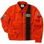 クレイスミス ジャケット スイングトップ ジャンパー メンズ バイク バイカー ファッション アメカジ Clay Smith CHARGING-C オレンジ_AP-CSY7190COR-MON