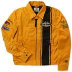 クレイスミス ジャケット スイングトップ ジャンパー メンズ バイク バイカー ファッション アメカジ Clay Smith CHARGING-C イエロー_AP-CSY7190CYE-MON