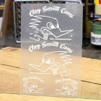 クレイスミス ステッカー 車 アメリカン キャラクター おしゃれ バイク ヘルメット かっこいい Clay Smith 転写 ホワイト メール便OK_SC-CSYC016-MON
