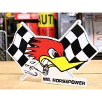 クレイスミス ステッカー 車 アメリカン キャラクター おしゃれ バイク ヘルメット かっこいい ホットロッド チェッカー 右向き メール便OK_SC-CSD020R-MON