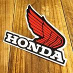 ステッカー ホンダ 車 アメリカン おしゃれ バイク ヘルメット かっこいい HONDA ウイング レッド 右向き メール便OK_SC-1122-GEN