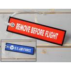 ラゲージタグ トラベル スーツケース ストラップ ミリタリー 刺繍 アクセサリー REMOVE BEFORE FLIGHT U.S.エアフォース アメリカ空軍 メール便OK_KH-LT04-GEN