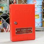 マーキュリー キーボックス 壁掛け インテリア おしゃれ MERCURY 鍵 収納 アメリカ アメリカン雑貨 レッド_MC-C110RD-MCR