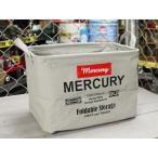 マーキュリー キャンバスバスケット 収納 カゴ おしゃれ ランドリーバスケット アメリカ アメリカン雑貨 サイズM グレー_MC-MECARBMG-MCR