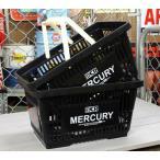 マーキュリー バスケット 収納 かご ポリプロピレン おしゃれ マーケットバスケット アメリカ アメリカン雑貨 MERCURY ブラック 2個セット_MC-MEMABABK2P-MCR