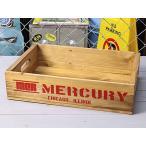 ウッドボックス 木箱 収納 アンティーク調 リサイクルウッド マーキュリー MERCURY レッド_MC-MEREWORD-MCR
